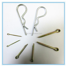 Customized stainless steel/carbon steel spring cotter pin,spring pin latch,spring loaded contact pin in