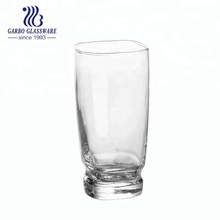 clear round glass cup drinking ware juice tumbler in machine making price