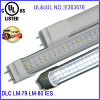 High bright SMD2835 110lm/w t8 600mm 1200mm DLC led tube fixture