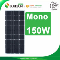 Best sell bluesun high efficiency low price Mono 150W solar panel price india for home use