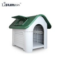 Large Weatherproof Plastic Dog Kennel Pet Puppy Outdoor Indoor Garden Dog House