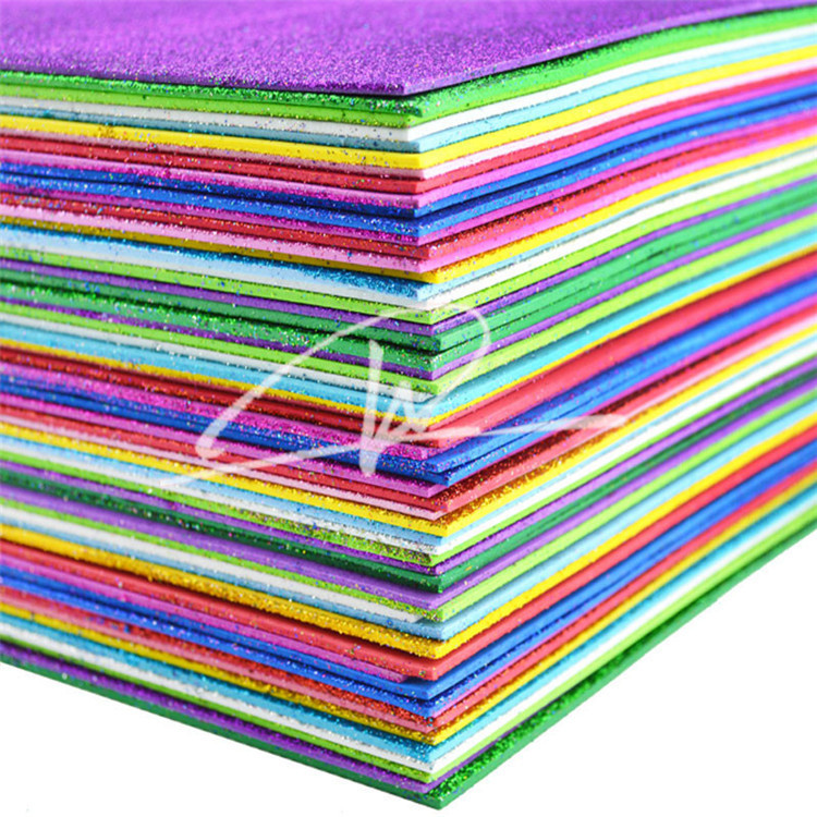 factory supply fully stock A4 glitter eva foam sheet