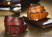 100% cow hide genuine leather belts
