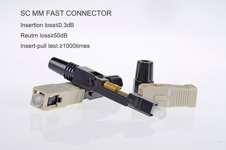 High quality Field assembly sc mm fast connector