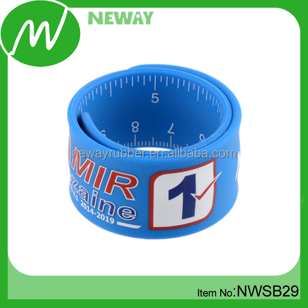 Factory Direct Supply Silicone Slap Band Ruler Wristband