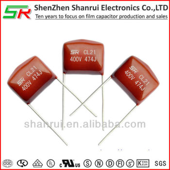 Metallized Polyester Film Capacitors 474j 400v Cl21 Mef
