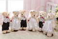 wedding favor teddy bear teddy bear wedding dress couple teddy bear wedding