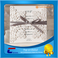 New design paper cards wedding invitations paper wedding cards made in China