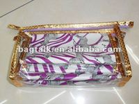 Three-piece Clear Vinyl Cosmetic Bag