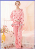 High Quality Single Jersey Printed Pajamas Women, Sleepwear