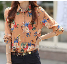 korean fashion long sleeves summer blouse summer