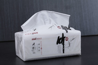 Best quality bamboo 3ply 14gsm facial tissue pack paper