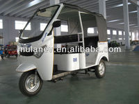 three wheel of electric rickshaw , tuk tuk , tricycle for passenger with INDIA STYLE