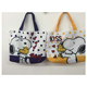 Wholesale Full Print Snoopy Shopping Bag Shoulder Bags for Promotion