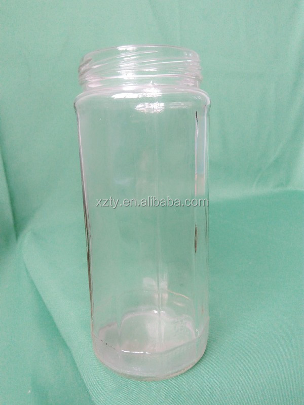 750ml polyhedral glass jars for jam or canned food