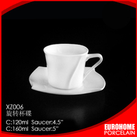 Promotion gifts for hotel coffee set porcelain with diamond design