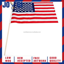 custom large print american country fly hand held flag