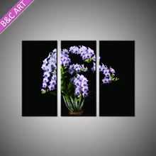 Cheap Wall Decor Hanging Large Canvas Art 3D Orchid Painting with Stretcher Bar