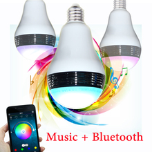 Colors Changing Adjusted with Remote Control APP control RGB Bluetooth Speaker smart led light bulb