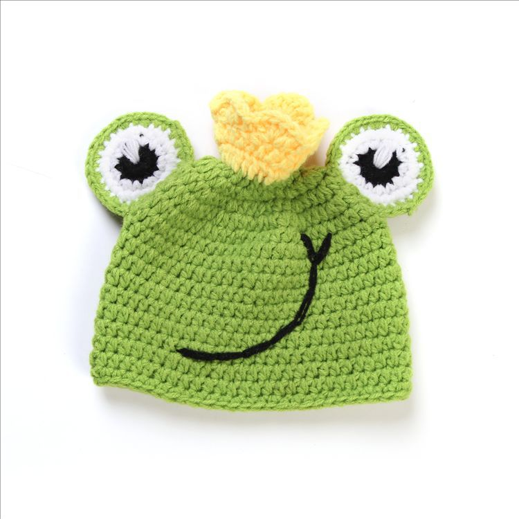 Baby crochet Kids knitted Handmade Toddler beanies Crochet Frog Hat for Kids