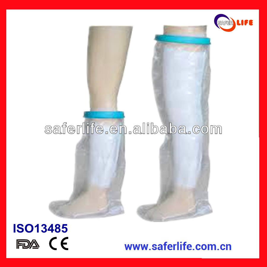 Wound care arm hand leg protector shower wet bandage cast protector