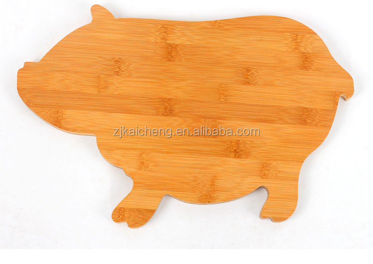High Quality Pig Animal Shaped Vegetable Oak Wooden Chopping Board