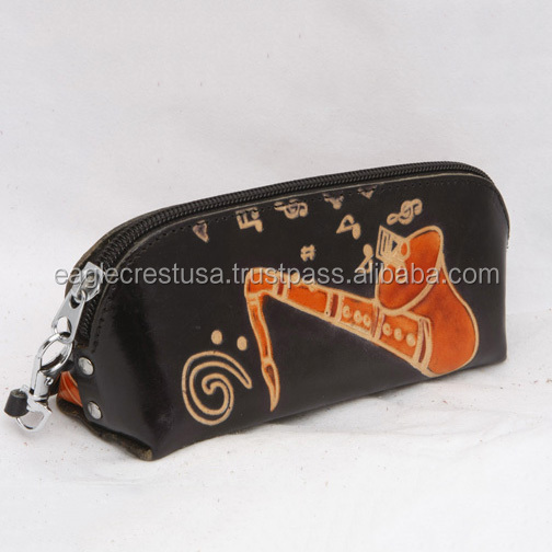 Handmade Leather Saxaphone Casual Bag