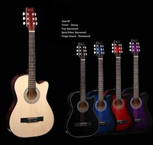 38 inch cheap cutaway acoustic guitar