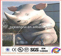 Popular sale giant inflatable Rhino for outdoor advertising