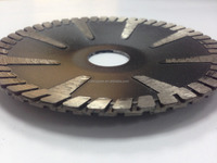 180mm Tiger Tooth Convex Diamond Turbo Blades For Sink cut outs