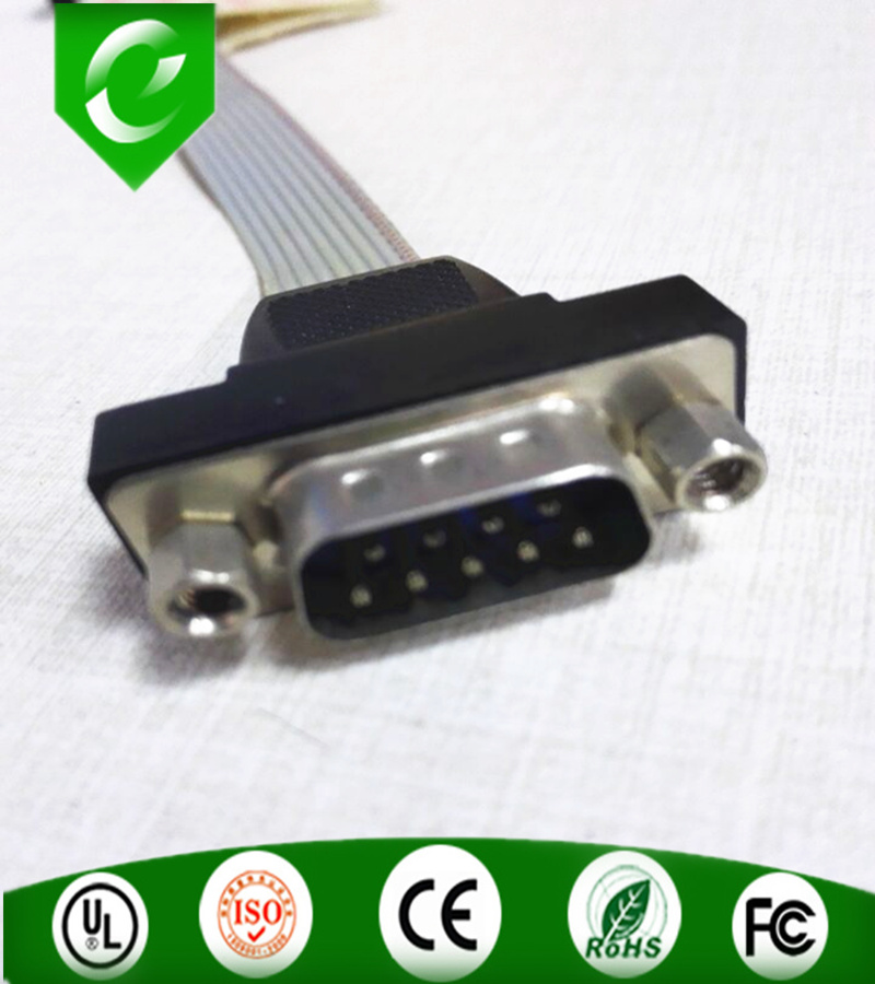 Shenzhen Factory OEM/ODM Computer Application db9 male to Female 80cm long connector flat ribbon cable