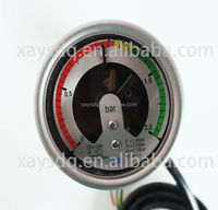 Cheap Alibaba China manufacture 1year warranty with alarm pressure gauge with back flange