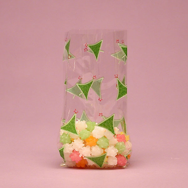 transparent OPP CPP triangle sandwich bag packaging
