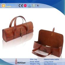 New Design PU Handbag For Red Wine packing Free Samples
