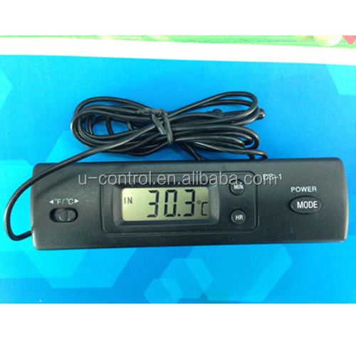 Profession Temperature Instruments Car Digital Thermometer DS-1 with Two Probes Measuring Temperature FG