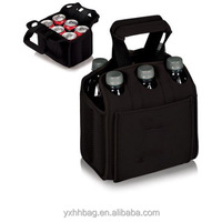 Insulated Wine Carrier Tote Bag Holder Carry Bottles Party Dinner Picnic Six Pack Cooler Bag (YX-Z089)