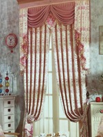 New design 100% Polyester Jacquard linen Blackout Fabric Curtain