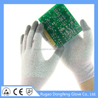 Cotton Shell And PVC Dotted Working Gloves