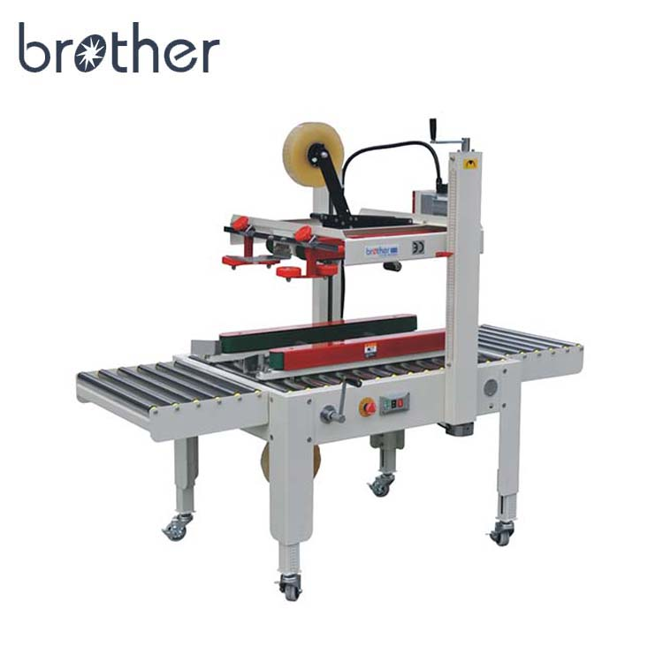 2018 Brother semi-automatic heavy duty top and side belt driven 240W adhesive tape carton sealer
