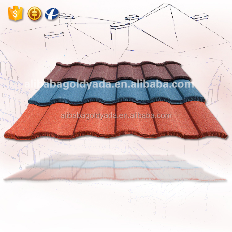 2016 New Zealand design Roman colorful pre coated roof tile