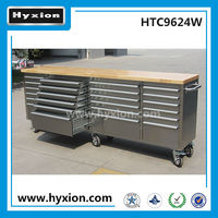 96 inch stainless steel 24drawer dental lab work bench for swivel wheels