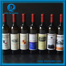 Custom Non-toxic Drinks Label Full Color Wine Strong Self-adhesive Die Cut Stickers