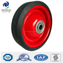 4 inch small solid rubber wheel with bearing for luggage trolley