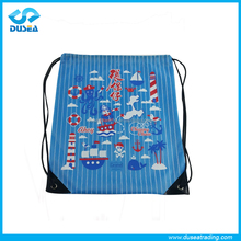 cheap bulk printing polyester small draw string bag Promotional polyester waterproof Drawstring bag/draw string bag in 2016
