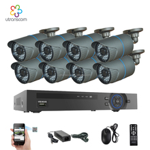 Network Surveillance System 8CH 1080P NVR 8pcs 2.0Mp 1080P HD IP Security POE Camera Home Security Kit