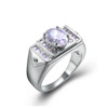 2018 new design 925 silver men's white cz ring for men