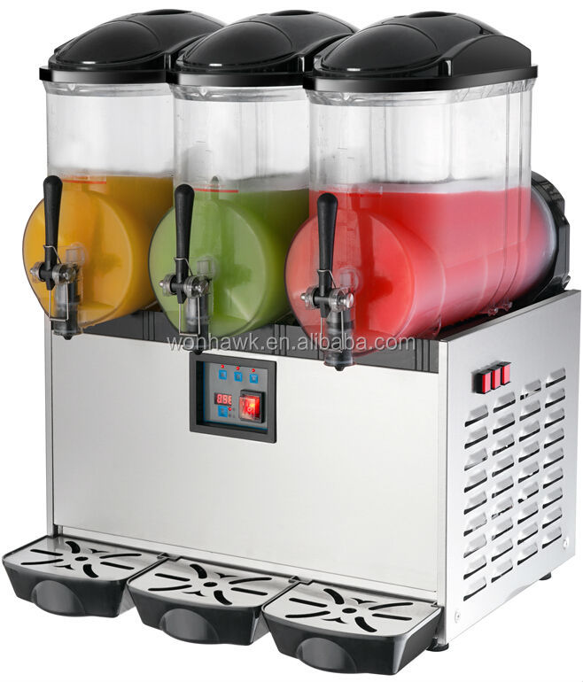 triple tanks commercial slush making machine