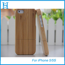 High quality Bamboo crafts cell phone case cover for iphone 5 5s