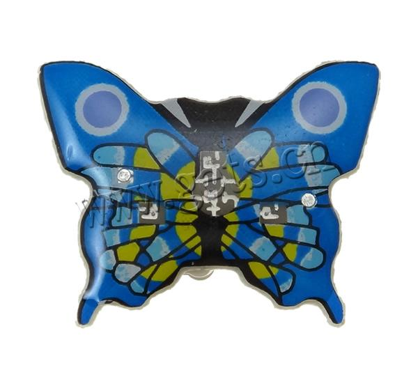 Resin Butterfly Blue Brooch 792913