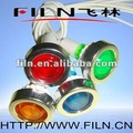 FL1-04 10mm diameter plastic Yellow railway signal lamp 220V